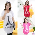 1 Piece Wholesale Price Summer Fashion Pregnant Women Tee Shirt Tops Large Size Short Sleeve Pregnancy Clothes HE1-15