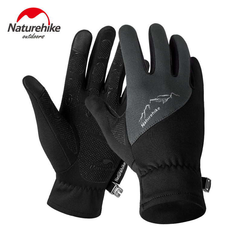 Naturehike Men Women Lightweight Cold Weather Windproof Waterproof Winter Sports Running Gloves Touch Screen Ski Hiking Gloves