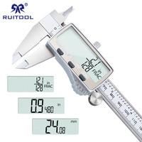 Digital Caliper 0 150mm/6 Fraction /Metric/Inch Stainless Steel Electronic Vernier Caliper Micrometer Measuring Instrument