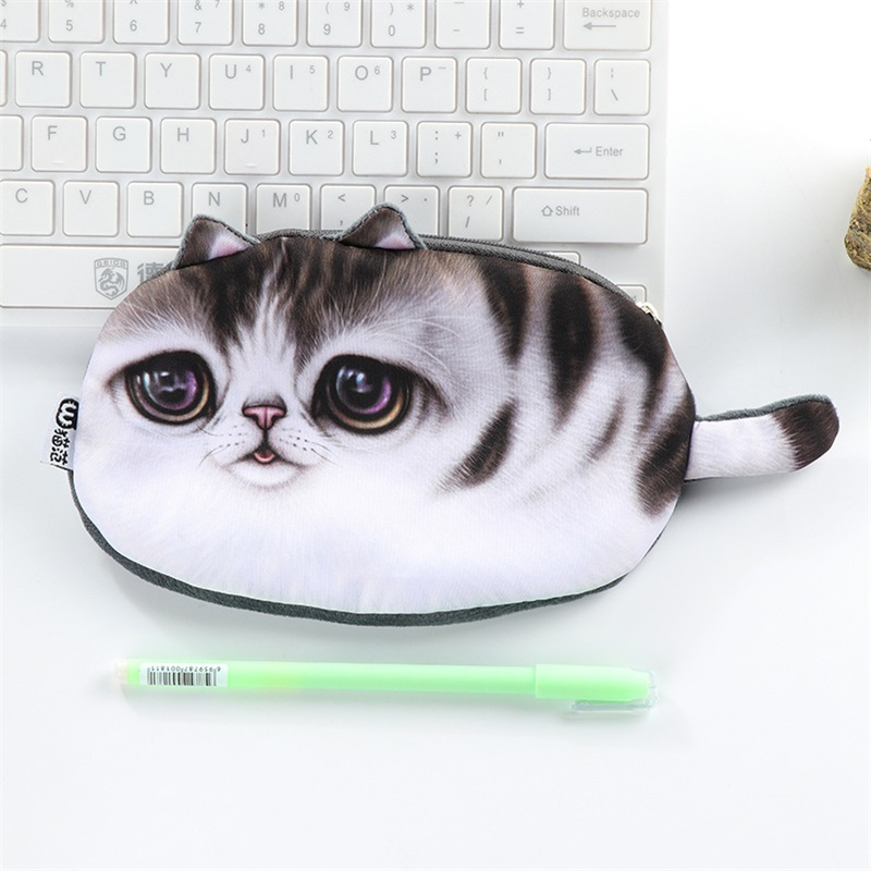 Funny Cat Pencil Case 4