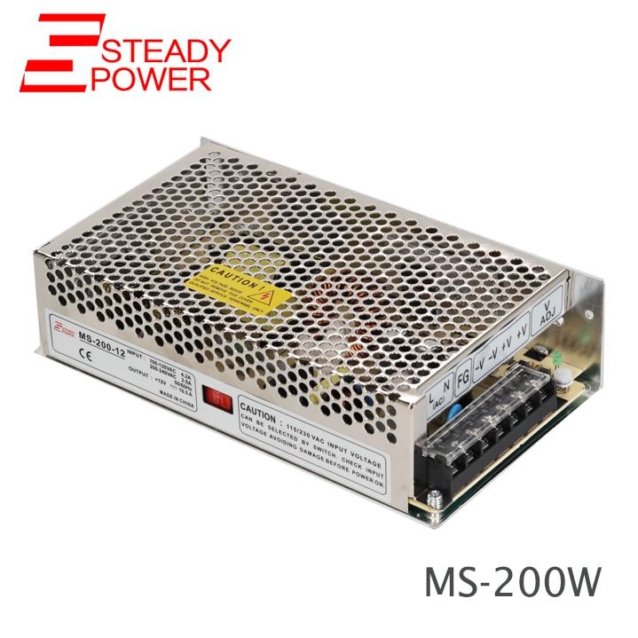 CE-godkänd MS-200W AC Tto DC-omvandlare 5v 40a / 12v 16.5a / 24v 8.3a / 48v 4a smps strömförsörjningskrets