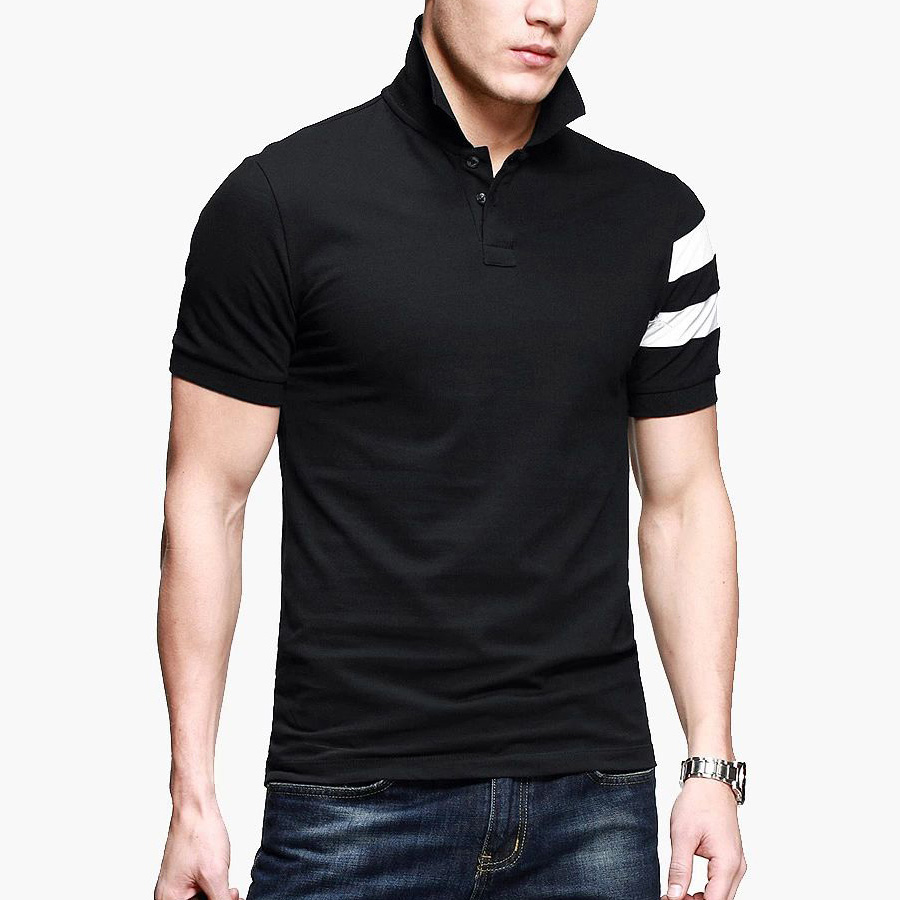 BINYUXD Solid Cotton Brand Polo Shirt Men New Summer Fashion Camisa Large Size XXXL Turn-down Short Sleeve British Shirts Male