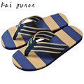 kai yunon Men Summer Stripe Flip Flops Shoes Sandals Male Slipper Flip-flops Sep 14