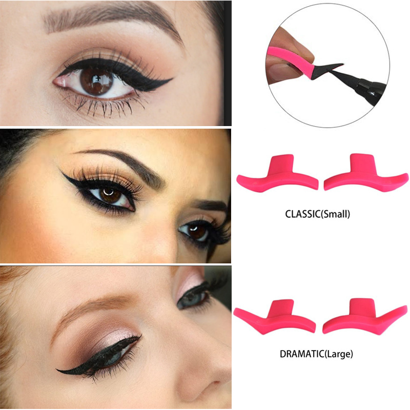 4PCS Winged Eyeliner Stamp Make up Stencil Classic and Dramatic 2 ...