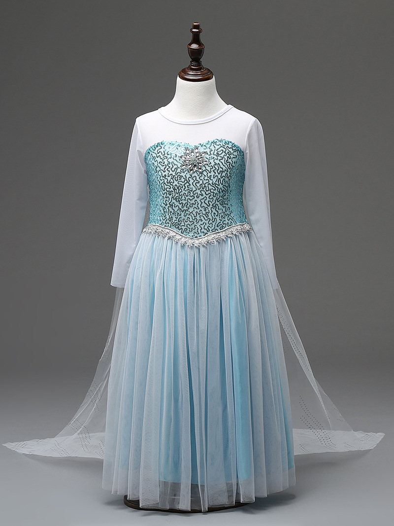 2017 Elsa Dress Custom Made Movie Cosplay Anna Girl Princess Costume for Children 3-8Y deadpool cosplay wade wilson cosplay shoes boots adult men s movie cosplay boots custom made