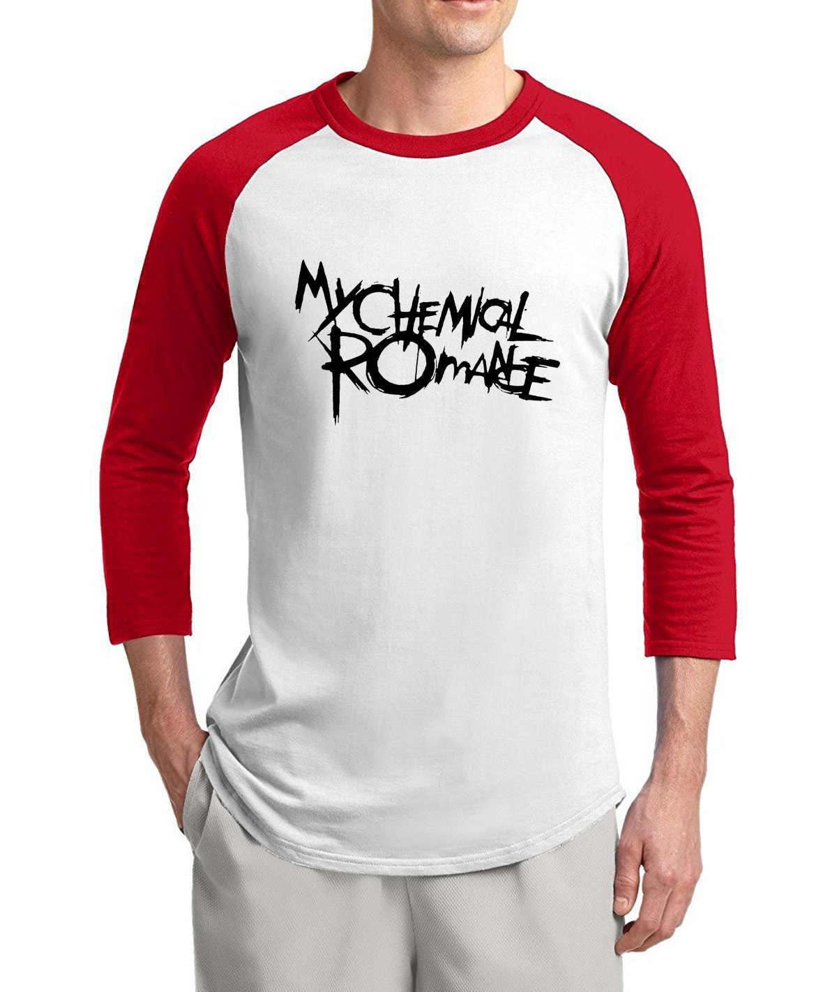 Rock Band Music shirt men 2019 summer 100% cotton 3/4 sleeve raglan men t-shirt hip hop style o-neck top tees