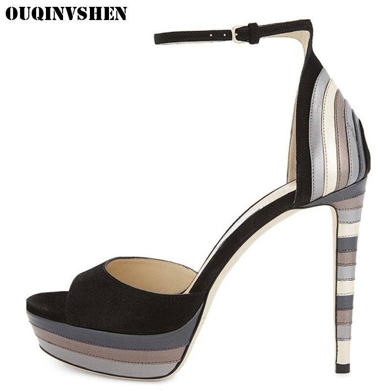 OUQINVSHEN Super High Heels Women Sandals Open Toed Women Sandal Shoes Casual Fashion Women Brand Shoes Ladies Sandals Shoes