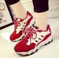 Горячие Продажа Новые 2016 Мода Квартиры Женщины Тренеры Дышащий Спорт Женщина Обувь Повседневная Открытый Прогулки Женщины Квартиры Zapatillas Mujer