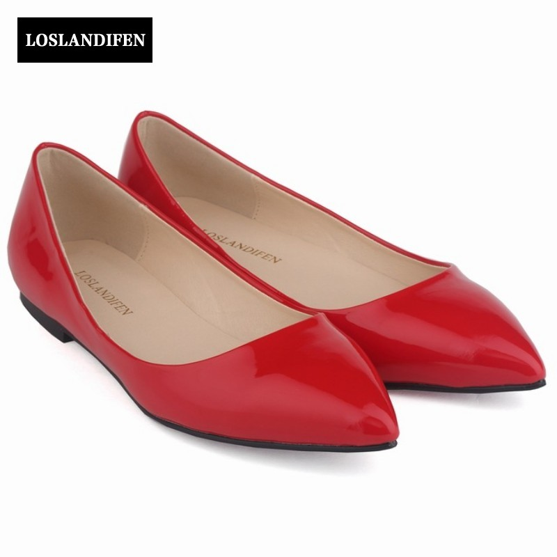 2017 New Arrival Pointed Toe Shallow 13 Candy Color Flat Shoes Woman Slip On Casual Elegant Ladies Tenis Feminino Plus Size weweya 2017 summer candy colors ladies flats fashion pointed toe shoes woman new flat shoes women plus size chaussure femme