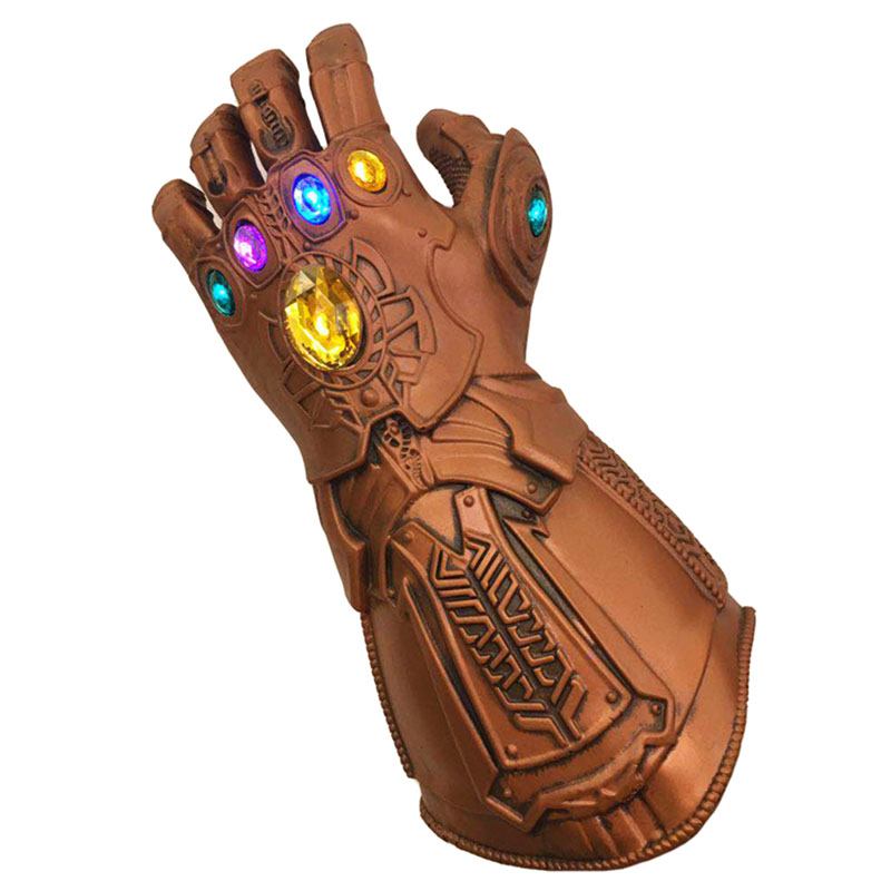 LED Avengers Thanos Infinity Gauntlet Gloves Cosplay Prop Halloween Avengers Infinity War Latex Gloves Costume Adult Kids Toys