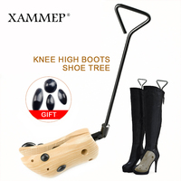 Shoe Tree 1 pair Wooden For Genuine Leather Shoe Winter Boots Women Shoes Boots Stretcher Shape Keeper Adjustable Width Xammep