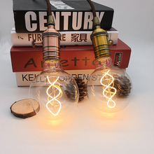 4W Dimmable Vintage Edison Bulbs LED Flexible Soft Filament Bulb G95 Light 110V 220V