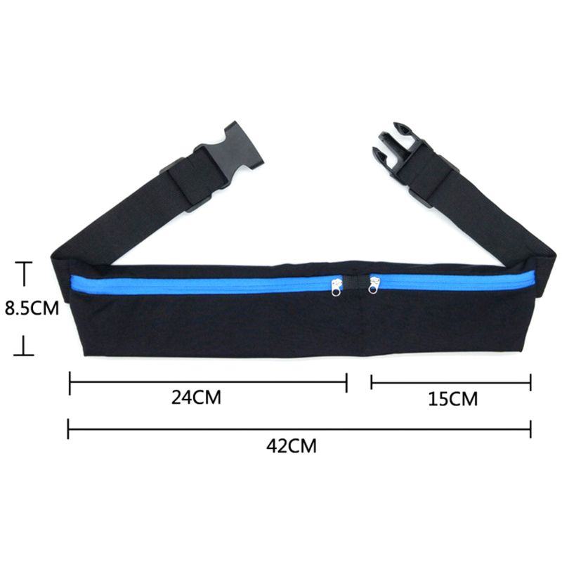 2019 New Dual Pocket Running Belt Phone Pouch Waist Bag Sports Hiking Cycling Travel Fanny Pack for Jogging Cycling Outdoors in Waist Packs from Luggage Bags