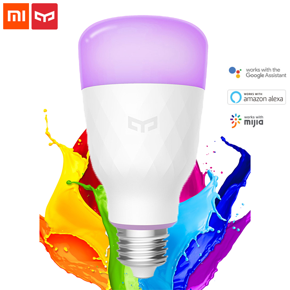 [ English Version ] Xiaomi Mijia Yeelight Smart LED Bulb Colorful 800 Lumens 10W/8.5W E27 Lemon Smart Bulb For Mi Home App