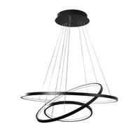 Gold Black Modern white color pendant lights for dining room 4/3/2/1 Circle rings LED lighting ceiling lamp Accessories