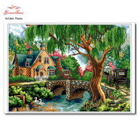 Needlework DIY DMC Cross Stitch Sets For Embroidery Kits Bridges Patterns Counted Cross Stitching Wall Home
