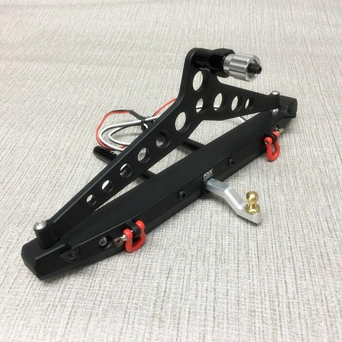 1PC pour Jeep escalade voiture pare-chocs arrière métal Anti-collision pare-chocs support avec support de pneu de rechange + crochets de remorquage pour Axial 90046 RC voitures
