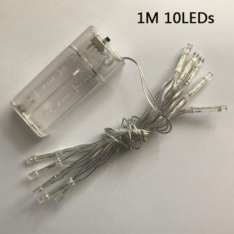 New Year 1m LED String Lights AA Battery Operated Waterproof Fairy LED Christmas Lights For Holiday Party Wedding Decoration