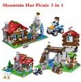 Nueva Mina-la Ciudad del arte del Creador Mis Mundos Cabaña de Montaña de Picnic 3 en 1 Kit House Building Blocks Juguetes de Los Niños