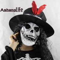 Long Earl Earl Skeleton Halloween Christmas Haunted Dress Up Dance Props Latex Terror Ghost Mask