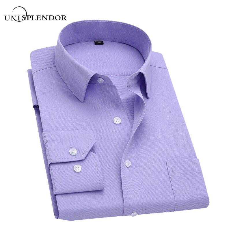 С длинным рукавом Тонкий Для мужчин платье рубашка 2018 Фирменная Новинка модные дизайнерские Высокое качество Твердые мужской Костюмы Fit Бизнес Рубашки для мальчиков 4xl yn045