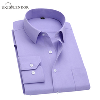 2015 New Business Casual Long Sleeve Solid Color Men Dress Shirts Male Slim Fit Chemise Homme