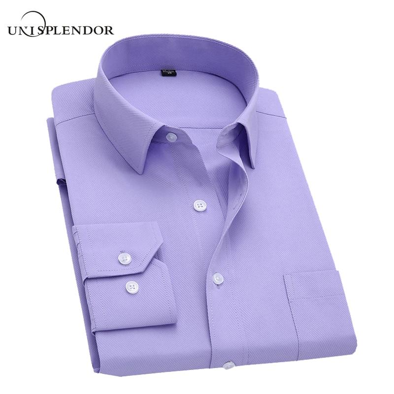 5XL 2016 New Men Shirt Business Casual Long Sleeve Solid Color Mens Dress Shirts Male Slim Fit Shirt Camisa hombre vestir YN045