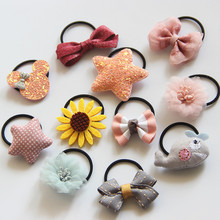10PCS/set  Flower Girls Headband Hair Accessories for Elastic Bands cat Kids Ropes Q27