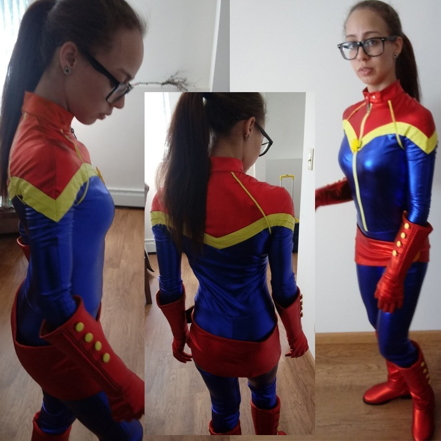 captain marvel cosplay ms. marvel carol danvers costume blue
