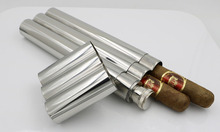 3 piece stainless steel cigar tube with to send a small gift wine jug!!!