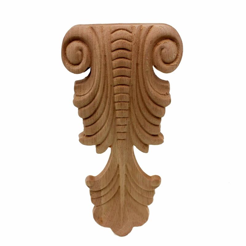 VZLX, nuevo armario tallado en madera, mesa de madera sin pintar, miniaturas para pies, muebles de decoración del hogar, muebles, pata de cama, accesorio de madera