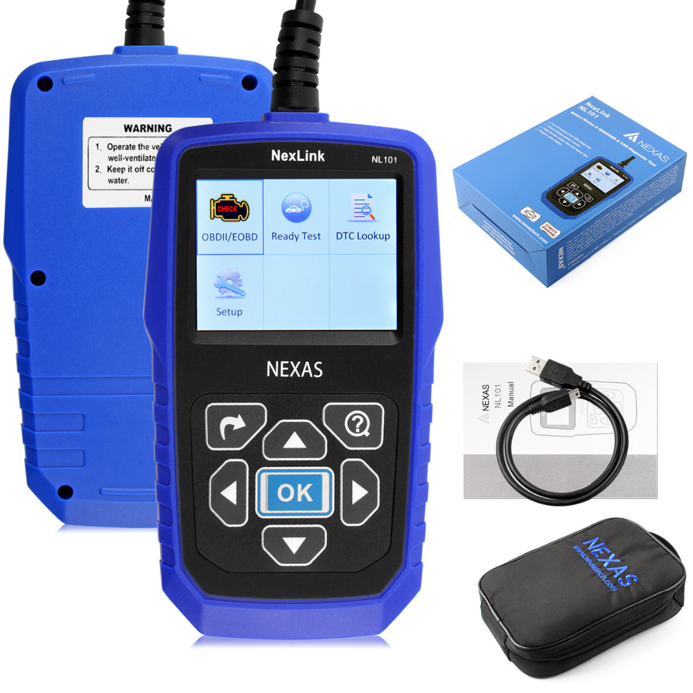 ФОТО hot sale obd2 diagnostic-tool obdii  Nexlink NL101  Auto OBD2 Scanner Automotive Diagnostic Tool With Battery Power Monitoring