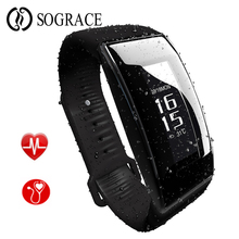 Get more info on the Sograce Bluetooth Smart Band Wristband Blood Pressure Heart Rate Monitor OLED Smartband Fitness Step Bracelet For Android IOS