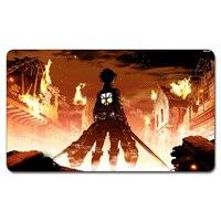 525 Custom Anime Game Playmat (aanval op Titan Speelkleed) Board Games Custom Big Spelen Pad met Playmat Opbergtas