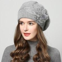 2018 kış şapka kadınlar için şapka Bereliler ile yün kadın kap örme bere