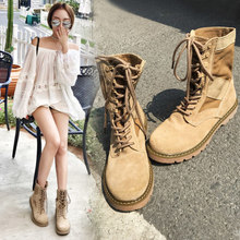 Motorcycle Martin boots female 2018 new summer boots England wind flat students retro Korean version of the wild women's boots