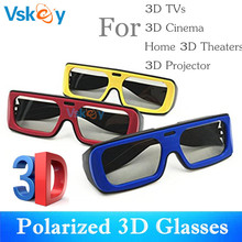 VSKEY 3Pcs Adult Polarized 3D Glasses For Passive 3D Televisions TV RealD Movie Theaters Cinema System Men Women