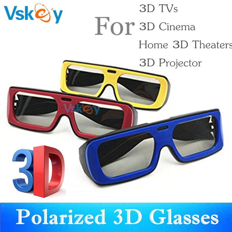 VSKEY 3Pcs Adult Polarized 3D Glasses For Passive 3D Televisions TV RealD Movie Theaters Cinema System Men Women image