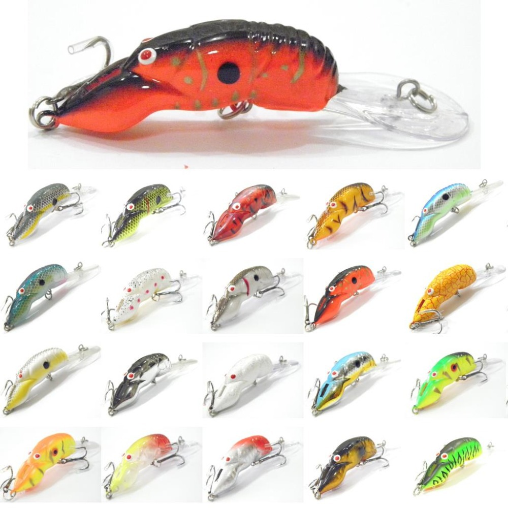 wLure 10g 9cm Crawfish Insect Bait Deep Water Crankbait Tight Action in Water 2 #6 Treble Hooks with OPP Packaging Lure C569