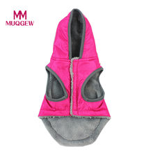 Hooded Style Pet Dog Thick Winter Coat Clothes Puppy waterproof Winter Warm Clothing Costume Jacket Coat Apparel 2017(China)