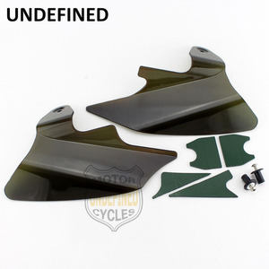 Image 2 - Motorcycle Smoke Reflective Saddle Shield Air Heat Deflector For Harley Touring Road King Electra Glide 1997  2007 UNDEFINED
