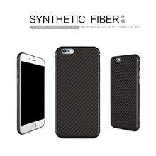 Carcasa de fibra de carbono carcasa para iphone 6 6s Nillkin, carcasa trasera de fibra sintética, funda trasera de silicona PP, funda trasera para iphone 6 plus