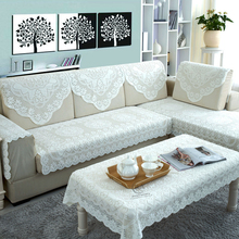 Lace Sofa Cover On The Corner Sofa Stretch Furniture Covers Slipcovers Cotton Covering Fundas De Sofa Cheap For Living Roo(China)