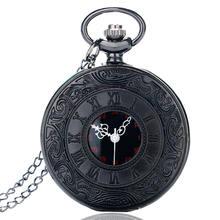 Винтаж черный унисекс часы мужские римские номер кварцевые стимпанк