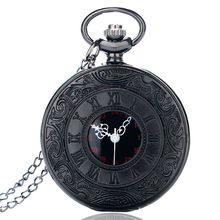 Vintage Charm Unisex Roman Number Pocket Watch Pendant Necklace