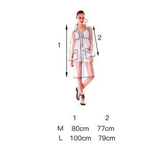 Image 2 - EVA 透明レインコート明確なフード付きレインウェア女性のレインコート屋外防水レインコートユニセックス女性レインコート