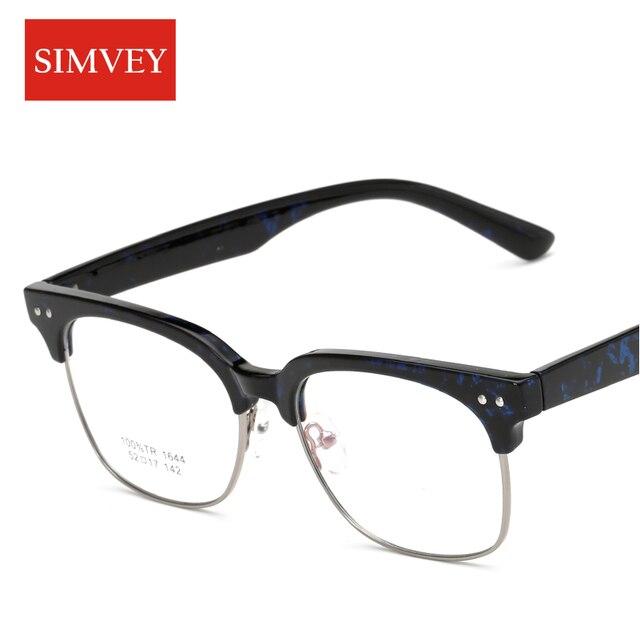 Aliexpress.com : Buy Simvey Fashion Women Mens Half Frame Glasses ...