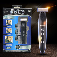 Micro Touch SOLO Rechargeable Shaver Peronal Hair Cleaning Shaver Trimmer And Edger Hyper Advanced Smart Razor