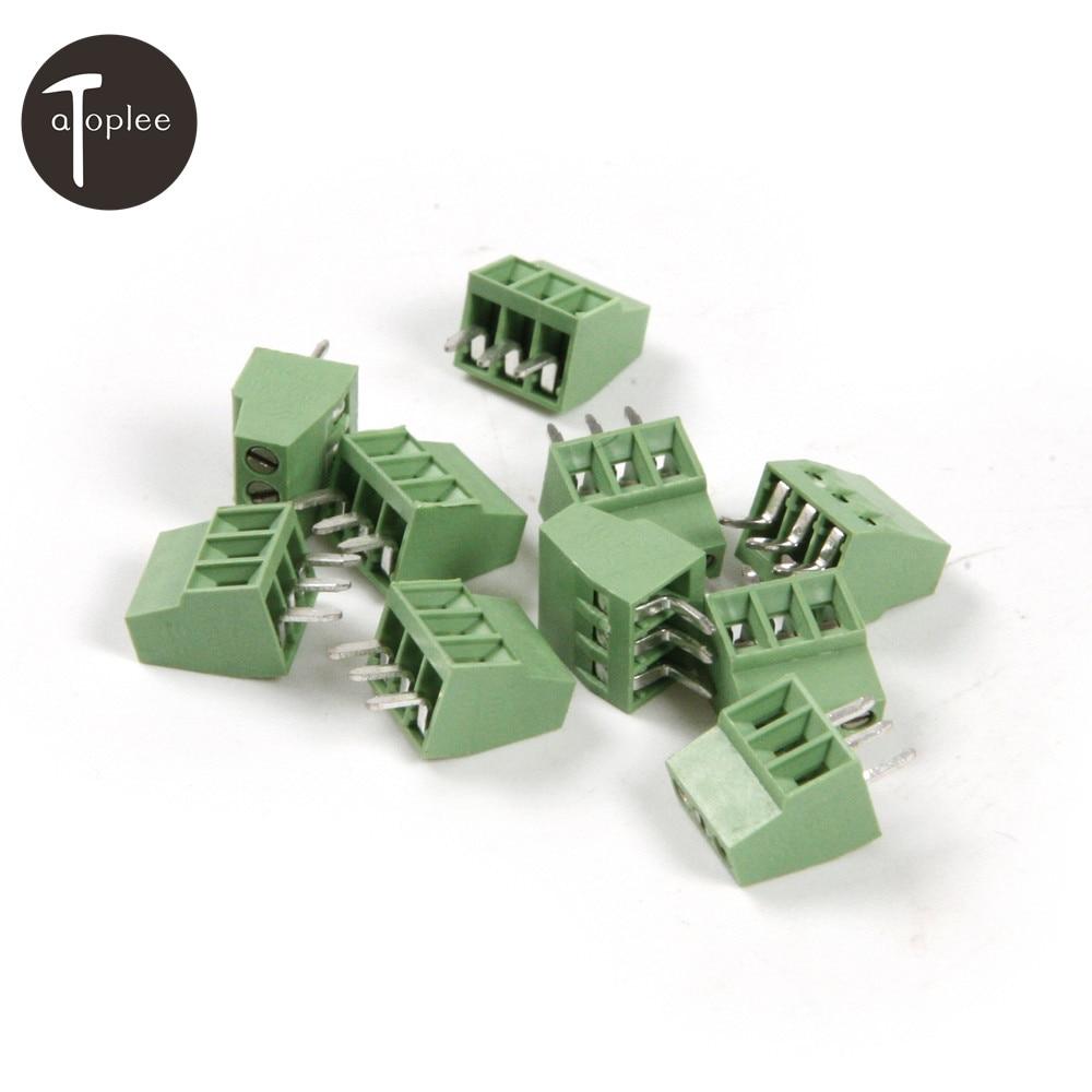 30PCS 2 Poles/2Pin And 30PCS 3 Poles/3Pin 2.54mm PCB Universal Screw Terminal Block Connector Free Shipping 30 2
