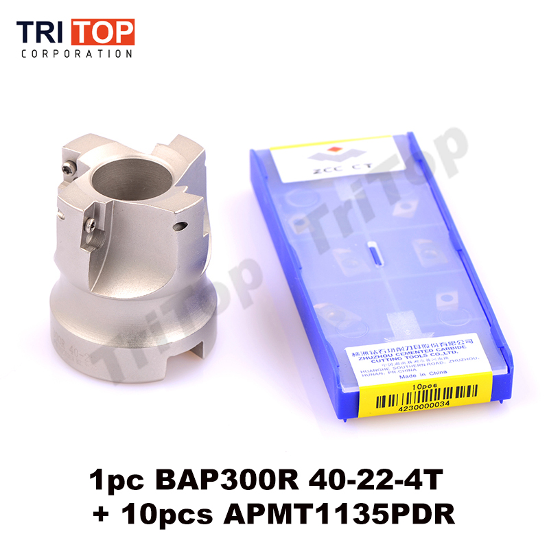Free Shiping 1pc BAP JAP 300R-40-22-4T Milling tool with 10pcs milling insert APMT1135PDR Face Mill Shoulder Cutter